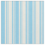 [ Thumbnail: Beige & Sky Blue Colored Striped Pattern Fabric ]