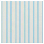 [ Thumbnail: Beige & Sky Blue Lines Pattern Fabric ]