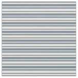 [ Thumbnail: Beige & Slate Gray Colored Lined/Striped Pattern Fabric ]