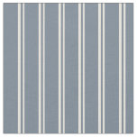 [ Thumbnail: Beige & Slate Gray Lined/Striped Pattern Fabric ]