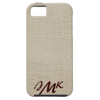 Beige Snake Skin with Monogram Case-Mate Case
