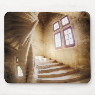 Beige spirl staircase, France Mouse Pad