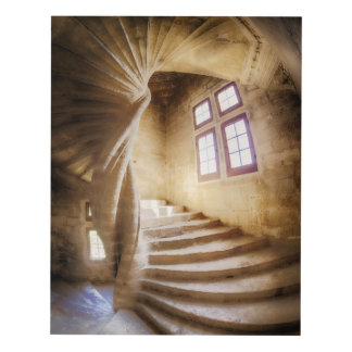 Beige spirl staircase, France Panel Wall Art