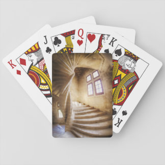 Beige spirl staircase, France Playing Cards