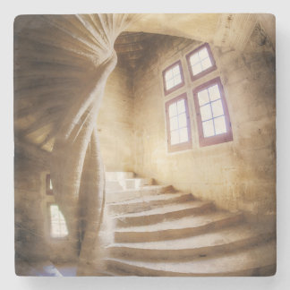 Beige spirl staircase, France Stone Coaster