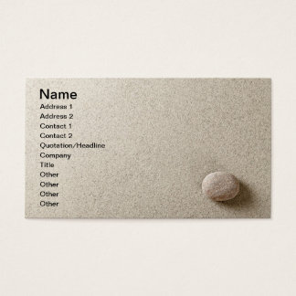 Beige stone on sand background business card