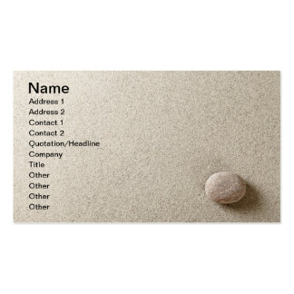 Beige stone on sand background business card templates