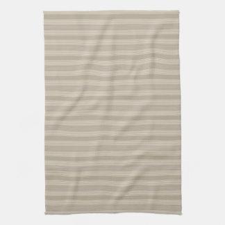 Beige Stripe Kitchen Tea Towel