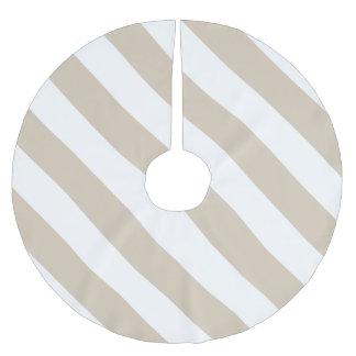Beige Stripes Brushed Polyester Tree Skirt