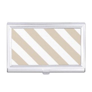 Beige Stripes Business Card Case
