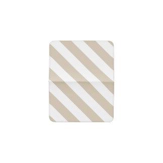 Beige Stripes Business Card Holder