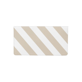 Beige Stripes Checkbook Cover
