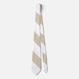Beige Stripes Neck Tie