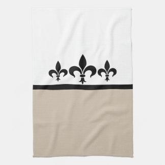 Beige Swanky Fleur De Lis Towel