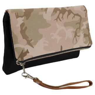 Beige, Tan, Brown Desert Miltary Camouflage Clutch