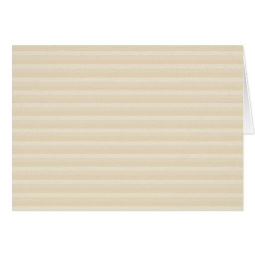 Beige Tan Color Stripe Pattern. Greeting Cards