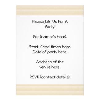Beige Tan Color Stripe Pattern Invite