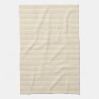 Beige Tan Color Stripe Pattern. Kitchen Towels
