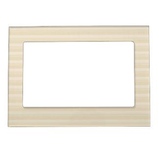 Beige Tan Color Stripe Pattern. Magnetic Picture Frames