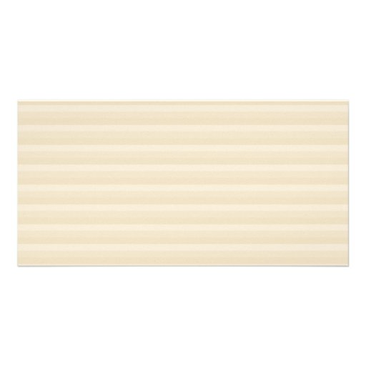 Beige Tan Color Stripe Pattern. Personalized Photo Card