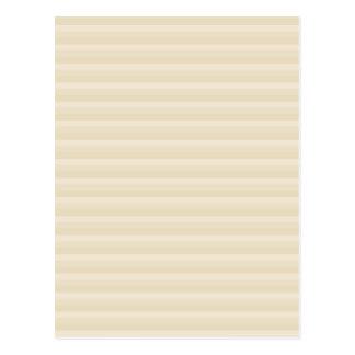 Beige Tan Color Stripe Pattern. Postcard