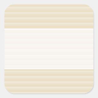Beige Tan Color Stripe Pattern. Square Sticker