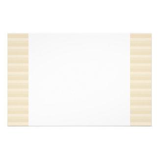 Beige Tan Color Stripe Pattern. Stationery