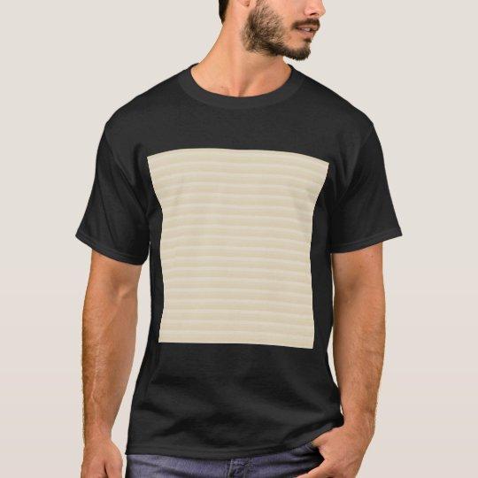 Beige Tan Color Stripe Pattern. T-Shirt