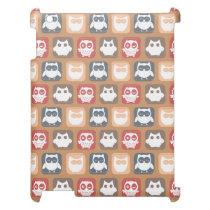 Beige Tan Owl Pattern Cover For The iPad 2 3 4