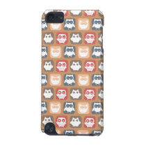 Beige Tan Owl Pattern iPod Touch (5th Generation) Cover