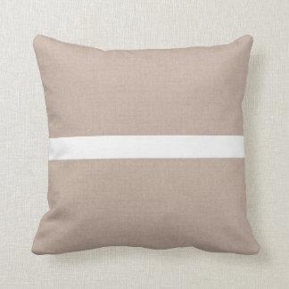 Beige Tan Throw Pillow