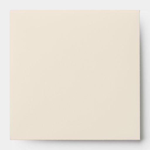 Beige Teal Blue Linen Envelopes