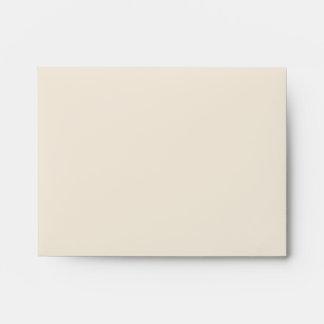 Beige Teal Blue Linen RSVP Envelopes