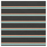 [ Thumbnail: Beige, Teal, Light Salmon, and Black Colored Fabric ]