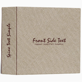 Beige Tones Linen Burlap Fabric Look 4 3 Ring Binder