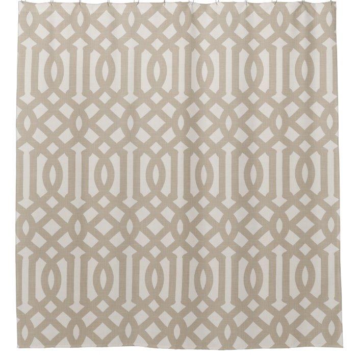 beige trellis modern farmhouse bathroom decor shower curtain zazzle com