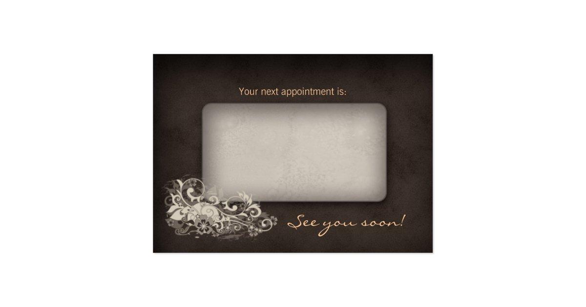 Beige trendy salon spa floral appointment card zazzle - Slon beige ...