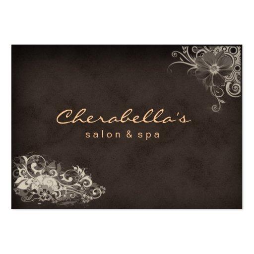 Beige trendy salon spa floral appointment card business card zazzle - Slon beige ...