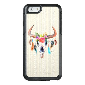 Beige Tribal And Bull Skull With Horns OtterBox iPhone 6/6s Case