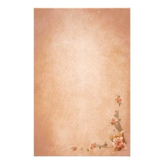 Beige Vintage Lilies Stationery