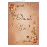 Beige Vintage Lilies Thank You Card