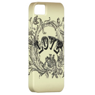 Beige Vintage Tattoo Love Paris Fashion Iphone 5 iPhone 5 Cases