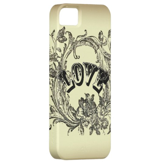 Beige Vintage Tattoo Love Paris Fashion Iphone 5 iPhone SE/5/5s Case