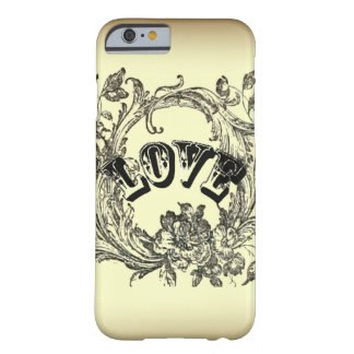 Beige Vintage Tattoo Love Paris Fashion iPhone 6 c Barely There iPhone 6 Case