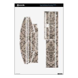 Beige Vintage Winged Cross Skins For PS3