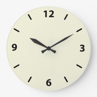 Beige Wall Clock with Black Numbers