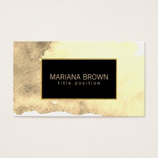 Beige Watercolor Background Gold Frame