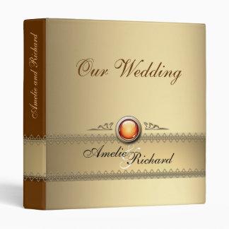 Beige Wedding Photo Portfolio Binder