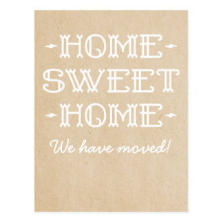 Beige Whimsical Home Sweet Home Postcard
