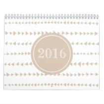 Beige White Aztec Arrows Year Calendar